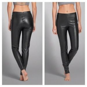 NWT Abercrombie & Fitch 'Laura' Leather Leggings